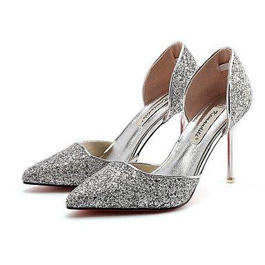 silver LvYuan Confort Noir Sandales ggx Argent Paillette Plat Femme Printemps Confort Décontracté Or 7wTq7a