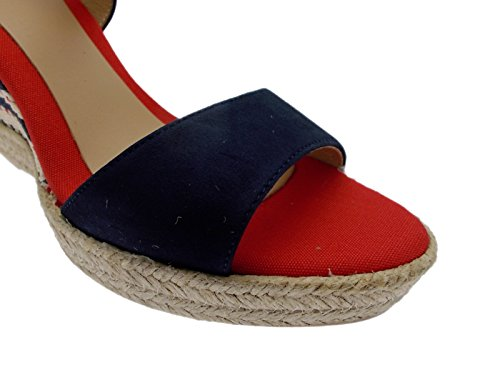 ALEXIA sandalo corda multicolor blu bianco rosso zeppa espadrillas