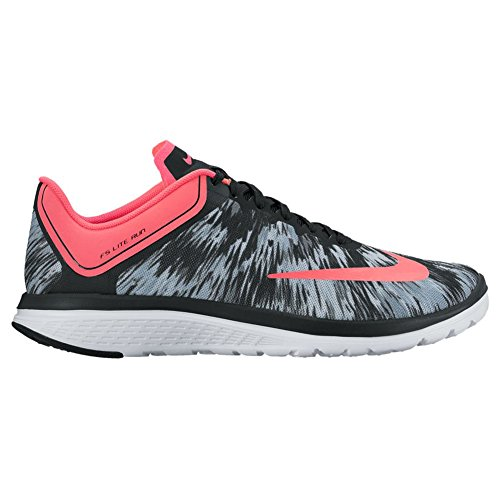 Nike Womens Fs Lite Run 4 Prem Running Scarpa Grigio Hot Punch Nero Bianco