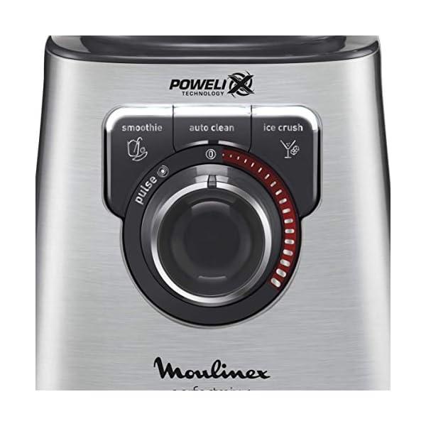 Moulinex PerfectMix + Frullatore con Tecnologia Powelix, 3 Programmi, Vaso in Vetro Termoresistente, 1200 W, 1.5 Litri… 4