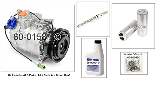 New AC Compressor & Clutch With Complete A/C Repair Kit For VW Volkswagen Passat - BuyAutoParts 60-80400RK New (Vw Passat Ac Compressor compare prices)
