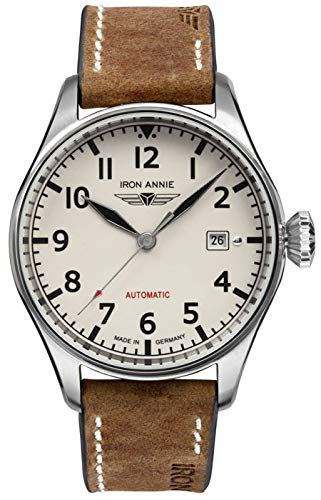 Iron annie Cockpit Mens Analog Automatic Watch with Leather Bracelet 5162-3 ()