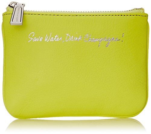 Rebecca Minkoff Cory Pouch Save Water Drink Champagne Wallet Electric Yellow One Size