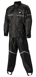 Nelson-Rigg Stormrider Rain Suit (Black/Black, XX-Large)