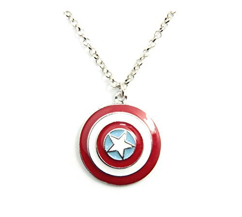 America Pendant Jewelry - Inspired By Super Hero Captain America the Avengers Star Shield Pendant Necklace Fashion Popular Jewelry