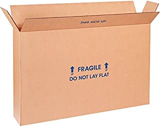 """product image for Partners Brand P28620FPFOLMS Flat Panel TV Moving Boxes, 28"""" Length x 6"""" Width x 20"""" Height, Kraft (Pack of 5)"""