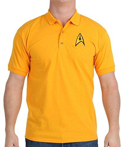 Mighty Fine Star Trek Starfleet Command Uniform Polo Shirt-X-Large