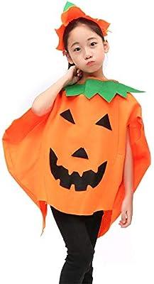 JUNGEN Capa de Calabaza con Capucha Disfraz de Halloween para ...