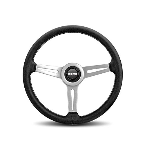 Leather Prototipo - MOMO RET36BK2S Retro 360 mm Leather Steering Wheel