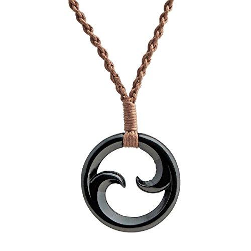 Bico Australia Fernlings Double Maori Koru Braided Cord Tribal Surf Necklace (Maori Koru Meaning)