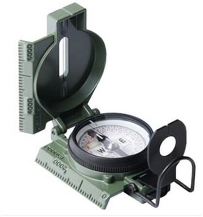 This is the image of a Camengga 27CS compass in green color.