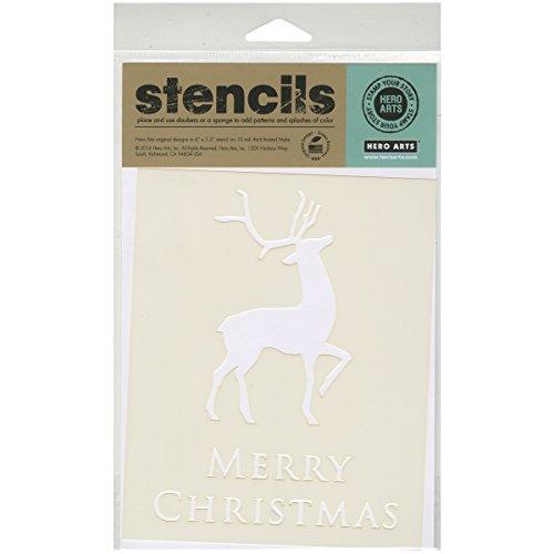 Hero Scrapbooking - Hero Arts SA032 Scrapbooking Stencils, Merry Christmas Reindeer