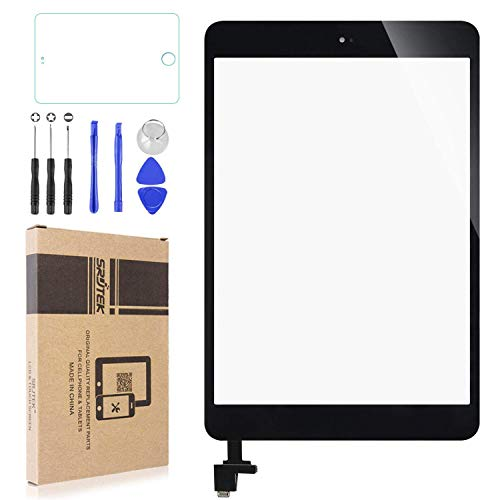 """Touch Screen Digitizer for IPad Mini & Mini 2(7.9"""") A1432 A1454 A1455 A1489 A1490,Replacement Parts with IC Chip & Home Button and Cameral Holder,Professional Tools Include(Black)"""