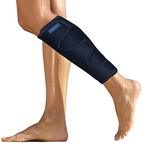 Roxofit Shin Brace - Calf Compression Sleeve - Shin Splint Support for Calf Pain Relief Strain Sprain Tennis Leg Injury Best Lower Leg Brace Men Women