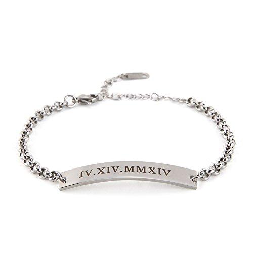 BBX JEWELRY Personalized Name Bracelets-Mama Bracelet-Gold Bar Bracelet-Custom Initial Bar-Gift for -