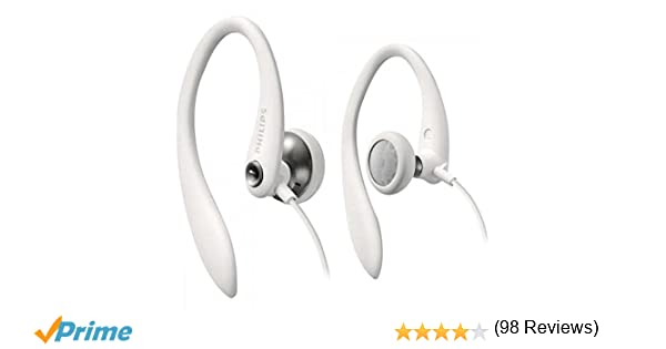 Philips SHS3300WT/10 - Auriculares deportivos, color blanco ...
