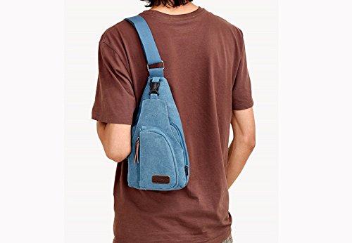 multifuncional deportivo Bolso para el el pecho deportivo Caqui al libre aire para Azul Bolso exterior Bolso para para pecho pequeño el hombres mensajero RETON Zf6zq6