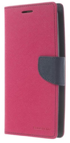 Mercury LG G Flex D955 Flip Leather wallet case Stand Dark Blue/Rose Cover Clutch Purse