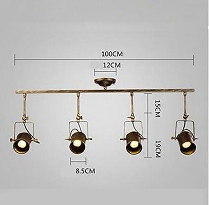 Cdbl -Lámpara de Techo Foco Loft Retro American lámpara ...