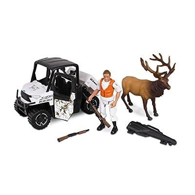 NKOK 1: 18 Realtree 6Piece Polaris Ranger Elk Hunting Playset (Colors May Vary): Toys & Games