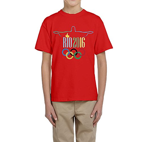 Rio 2016 Summer Christ The Redeemer Teenager T-shirt XL Red