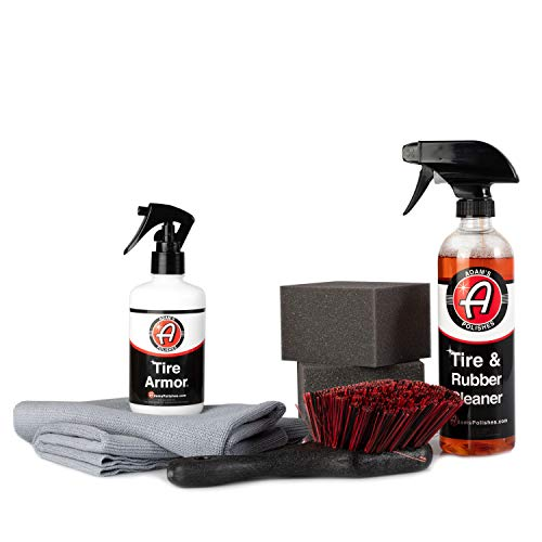(Adam's Tire Armor - No-Sling, Extremely Long Lasting Tire Dressing - Semi-Permanent, Acrylic Layer Gives Tires a Dressed or New Tire Look (Complete Kit))