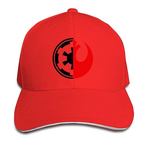 Bang Star Wars Rebel Alliance Logo Sandwich gorra de béisbol sombreros Rojo