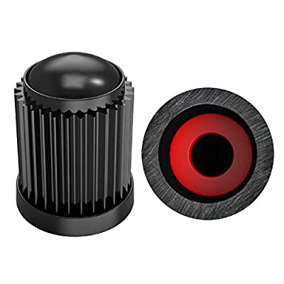 BEADNOVA Tire Caps with Seal Proof O-Ring Valve Stem Caps Tire Value Caps Tire Stem Covers for Car, SUVs,Truck, Motorbike, Bike and Bicycle (30 Pieces, Black): Automotive