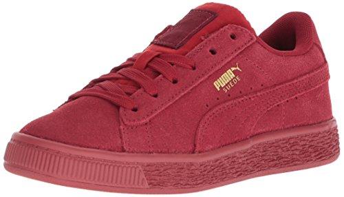 PUMA Baby Suede Classic Tonal Kids Sneaker, Red Dahlia-Red Dahlia, 8 M US Toddler