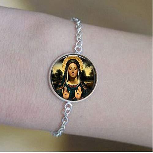 Saint Lucia - Saint Lucy - St. Lucy - Patron Saint of Eyesight - Eyeba bracelets,Bible Quote Pendant - Christian Insect Art bracelets,bracelets,Unique bracelets Customized Gift,Everyday Gift bracelets]()