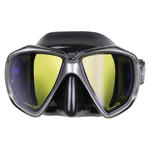 Scuba Max Spider Eye Color Lens Mask (Black / Yellow Lens)