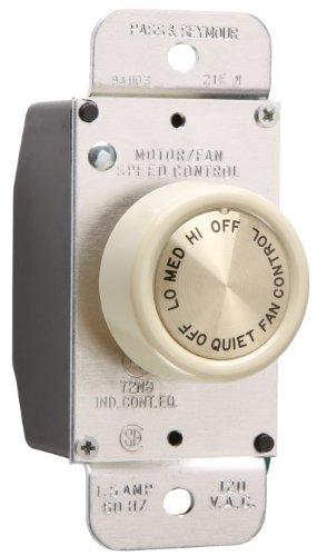 Legrand-Pass & Seymour 94003LAV 1.5-Amp Maximum three Speed Specification Grade Rotary Fan Speed Control Switch Light, Almond