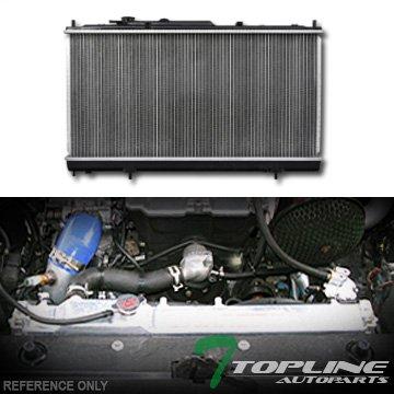 Topline Autopart Aluminum Core Replacement Radiator Cooler For AT Automatic MT Manual Transmission For 01-05 Chrysler Sebring/Dodge Stratus/Mitsubishi Eclipse 2D 2Dr 2 Door 2.4L L4 Engine DPI 2438 Chrysler Sebring Koyo Radiator