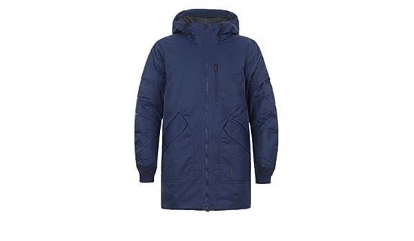 7f02ada762e Nike AIR Jordan Men's Long Hooded Down Outerwear Coats 807952-410 (XS) Dark  Blue at Amazon Men's Clothing store: