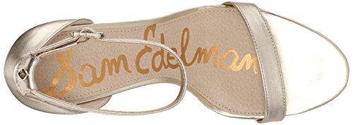 Light EdelmanPatti col Scarpe Leather Tacco Sam Donna Gold zaXBzqwx