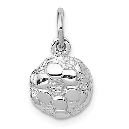 Jewelry Pendants & Charms Themed Charms 14k White Gold Soccer Ball Charm 14kt Gold Soccer Ball Charm