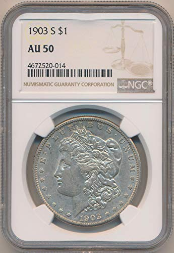 1903 S Morgan Dollar Morgan Dollar AU50 NGC