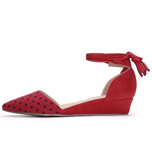 Allegra K , Damen Walkingschuhe Rot