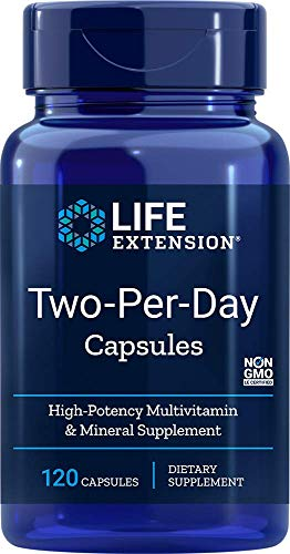 Life Extension Two Per Day (High Potency Multivitamin & Mineral Supplement), 120 Capsules