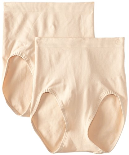 Bali Women's Shapewear Shaping Brief Ultra Control 2-Pack, Soft Taupe, XX-Large ()