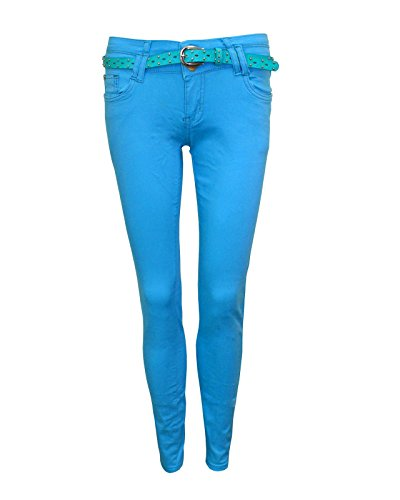 TOP VENDOR Damen Jeanshose * One Size Blau (Türkis) W9YB2BGI