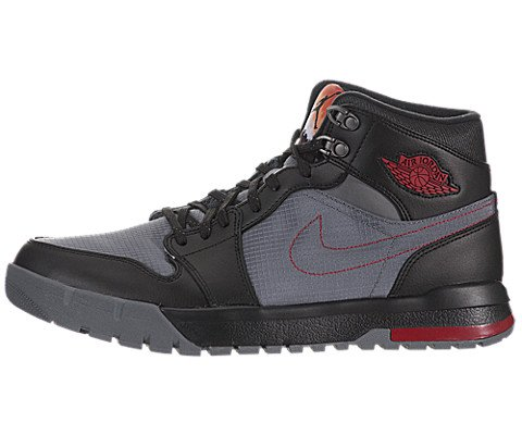 Nike Mens Air Jordan 1 Trek Boots Cool Grey/Gym Red/Black 616344-004 Size 10.5 by Jordan