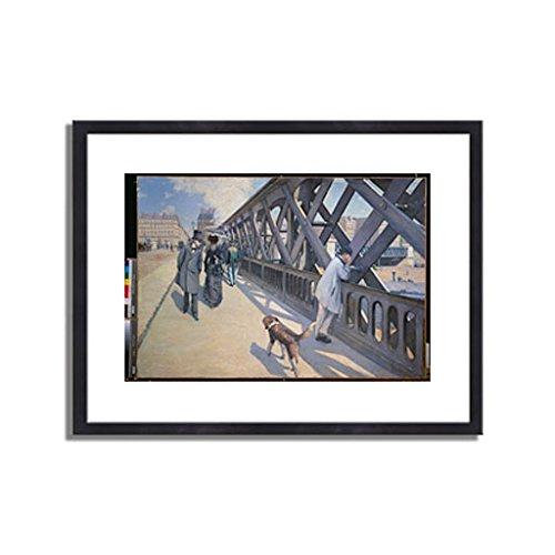 ギュスターヴカイユボット Gustave Caillebotte「ヨーロッパ橋 The Europe Bridge. 1876 」 インテリア アート 絵画 プリント 額装作品 フレーム:木製(黒) サイズ:XL (563mm X 745mm) B00NEDZ8IO 4.XL (563mm X 745mm)|3.フレーム:木製(黒) 3.フレーム:木製(黒) 4.XL (563mm X 745mm)