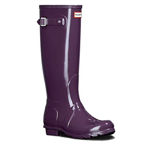 Womens Jager Original Tall Gloss Waterproof Wellington Winter Regenlaars Purple Urchin