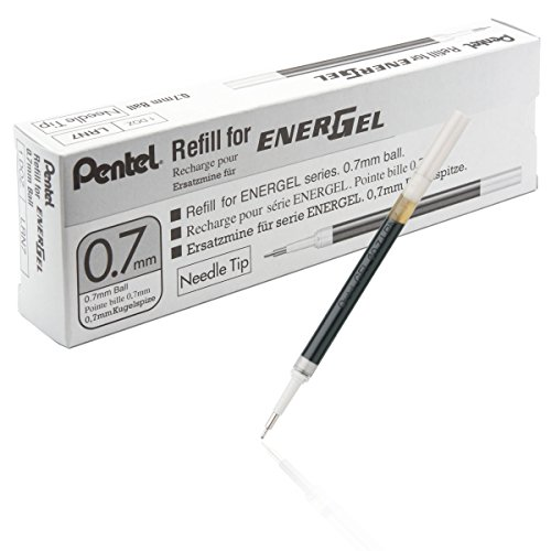 - Pentel Refill Ink for EnerGel 0.7mm Needle Tip Liquid Gel Pen, Pack of 12, Blue Ink (LRN7-C-12)