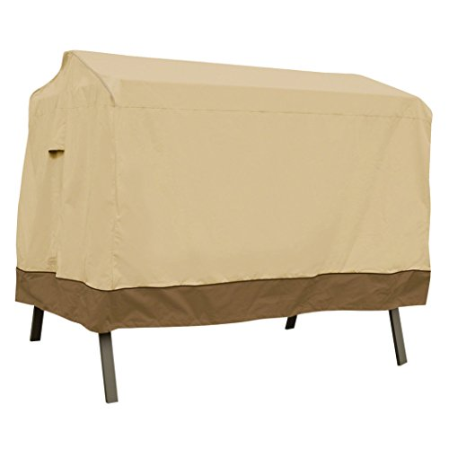 Attached Cover Patio (Classic Accessories Veranda 3-Seater Patio Canopy Swing Cover - Durable and Water Resistant Patio Set Cover (55-622-011501-00))