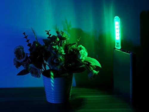 Ebyphan Portable Night Light Kids, Mini USB Led Lights, Modern Smart Novelty Lamps, Touch Switch Colorful RBG Bulbs, 9 Color Modes Adjustable, 2PCS by Ebyphan (Image #4)