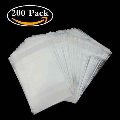 Resealable Photo Paper (200 Pcs Clear Cello Cellophane Bags 4x6 Self Sealing - 3.2 mils Thick OPP Plastic Bags for Bakery, Candle, Soap, Cookie (4