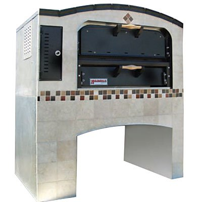 Marsal & Sons MB-236 Slice Series Gas Pizza Deck Oven w/ (1) 24'' x 36'' Brick Lined Baking Chamber by Marsal