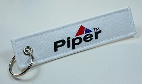 Piper Aircraft Aviation Keychain for Flight Crew, Pilots, Air Crew, Airplane and Aircraft Owners